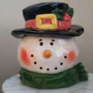 Vintage Snowman Cookie Jar
